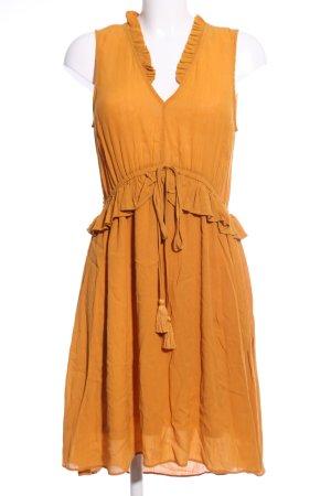 H&M Flounce Dress light orange casual look