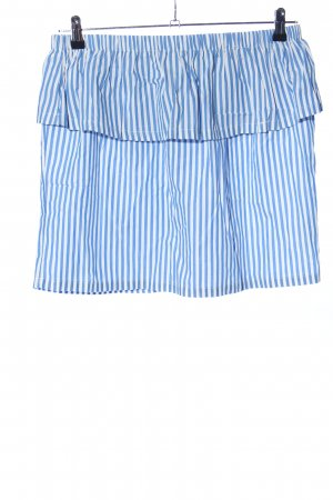 H&M Flounce Skirt blue-white striped pattern casual look