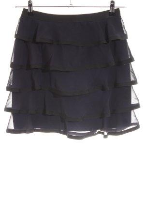 H&M Falda con volantes negro estilo «business»