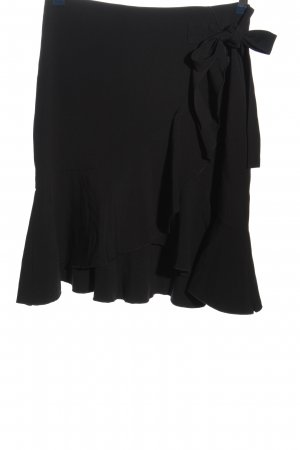 H&M Volantrock schwarz Casual-Look