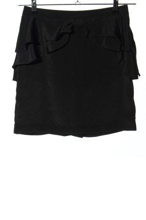 H&M Jupe à volants noir style d'affaires