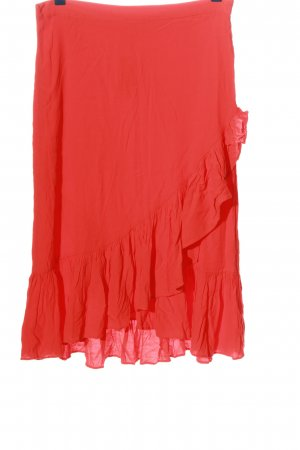 H&M Volantrock rot Casual-Look