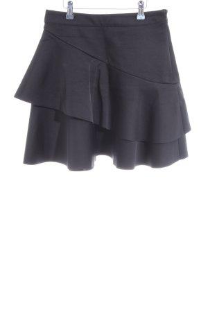 H&M Falda con volantes negro elegante