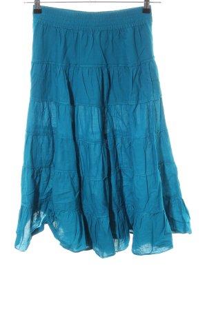 H&M Falda con volantes azul look casual