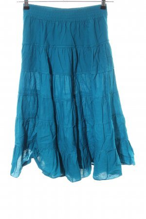 H&M Volantrock blau Casual-Look