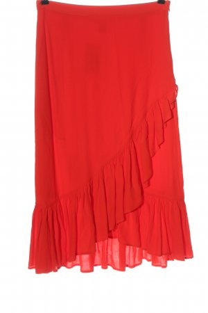 H&M Flounce Skirt red casual look