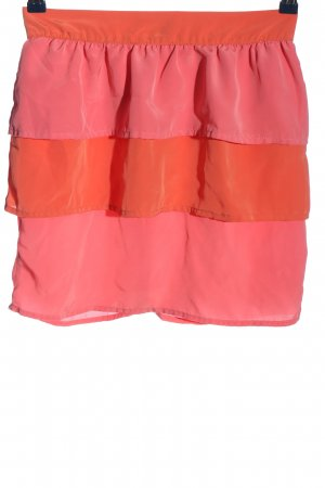 H&M Volanten rok roze-licht Oranje casual uitstraling