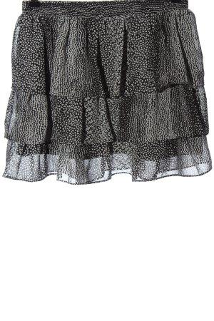 H&M Volantrock schwarz-weiß Allover-Druck Casual-Look