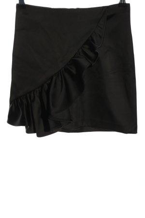 H&M Spódnica z falbanami czarny W stylu casual