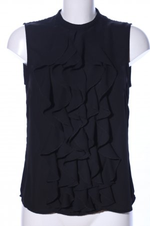 H&M Volanttop schwarz Business-Look