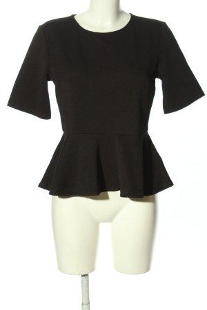H&M Top z falbanami czarny W stylu casual