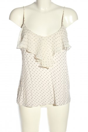 H&M Flounce Top natural white-black allover print casual look