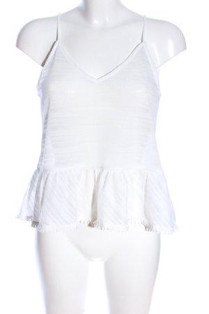 H&M Top con balze bianco elegante