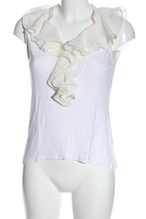 H&M Flounce Top white-natural white elegant