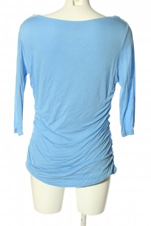 H&M Wasserfallshirt blau Casual-Look