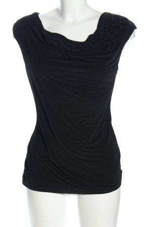 H&M Top col bénitier noir style décontracté