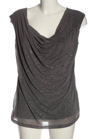 H&M Top col bénitier gris clair style décontracté