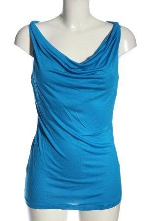 H&M Wasserfallshirt blau Elegant