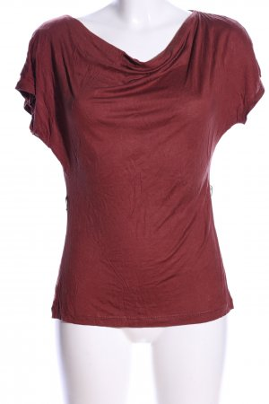H&M Wasserfallshirt rot Casual-Look