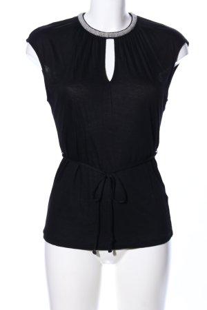 H&M Wasserfallshirt schwarz Elegant