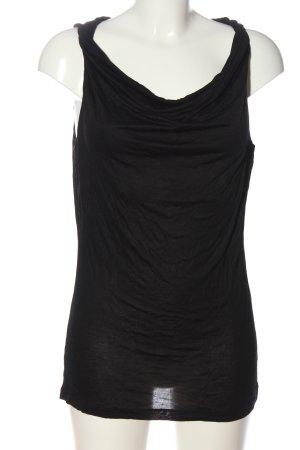 H&M Top tipo cascada negro look casual
