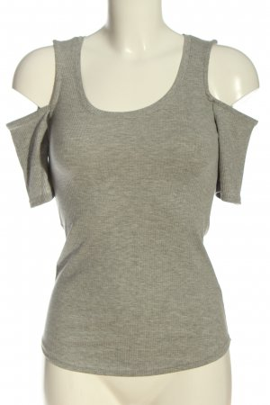 H&M Cut Out Top light grey flecked casual look