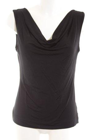 H&M Watervaltop zwart casual uitstraling