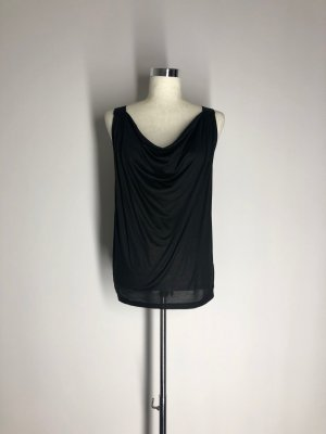 H&M Cowl-Neck Top black viscose