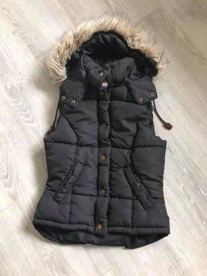 H&M Hooded Vest black