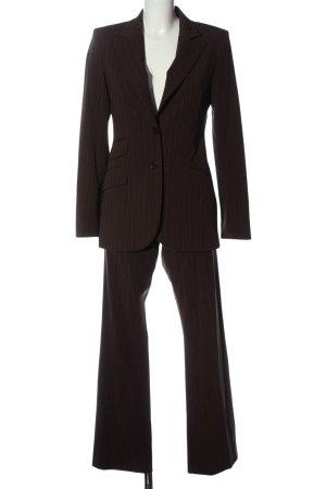 H&M Web Twin Set braun-hellgrau Streifenmuster Business-Look