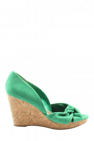 H&M Wedges Sandaletten grün Casual-Look