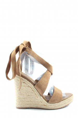 H&M Wedges Sandaletten creme Casual-Look