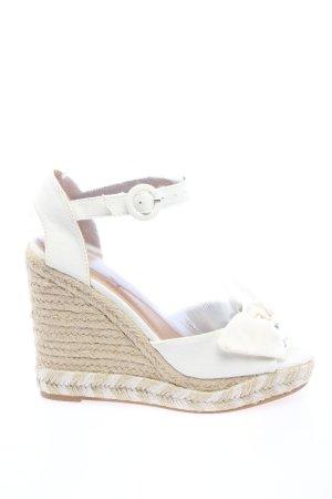 H&M Wedges Sandaletten weiß-creme Casual-Look