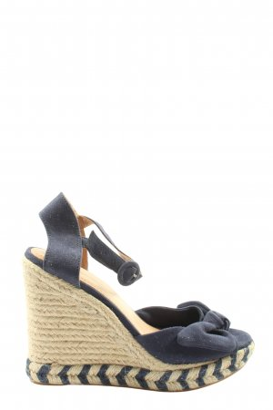 H&M Wedge Sandals blue casual look