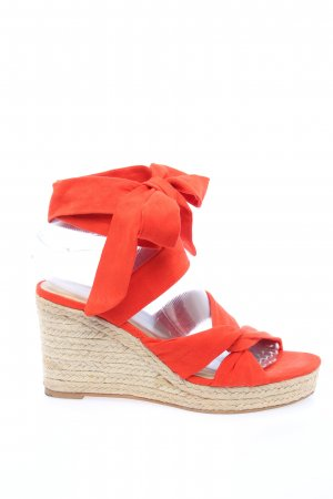 H&M Wedges Sandaletten rot Casual-Look