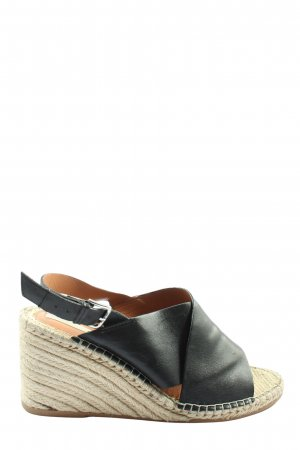 H&M Wedges Sandaletten schwarz-wollweiß Casual-Look
