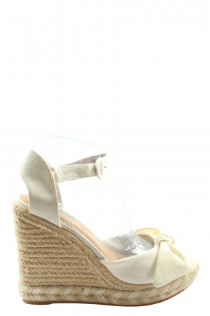 H&M Wedge Sandals natural white-cream casual look