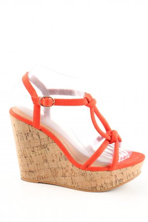 H&M Wedge Sandals light orange casual look