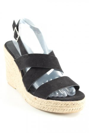 H&M Wedges Sandaletten schwarz Casual-Look