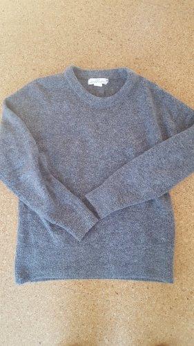 H&M weicher grauer Wollpullover / S