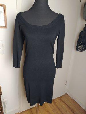 H&M weiches Strickkleid aus Viskose-Strick, schwarz, S/36