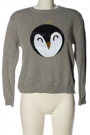 H&M Christmasjumper light grey flecked casual look