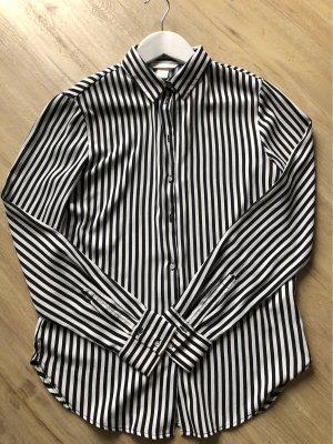 H&M Weiss schwarz gestreifte Bluse Größe 34
