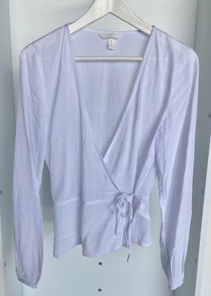 H&M - Weiße Bluse mit Wickeldesign (ungetragen)