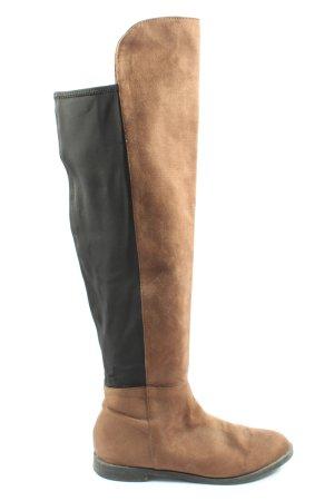 H&M Weitschaftstiefel braun-schwarz Casual-Look