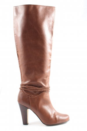 H&M Wide Calf Boots brown casual look