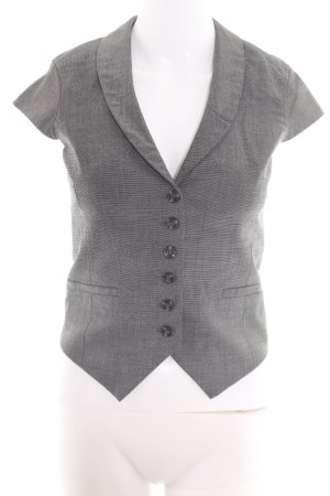 H&M Reversible Vest light grey weave pattern business style
