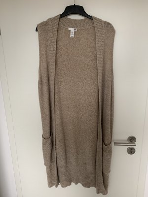 H&M Long Knitted Vest beige