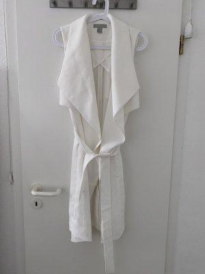 H&M Lang gebreid vest wit