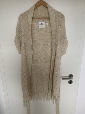 H&M L.O.G.G. Long Knitted Vest cream